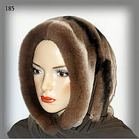 Меховой платок из кролика  Rex Rabbit (коричневый)