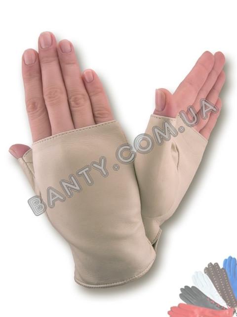 Женские перчатки без пальцев модель 380