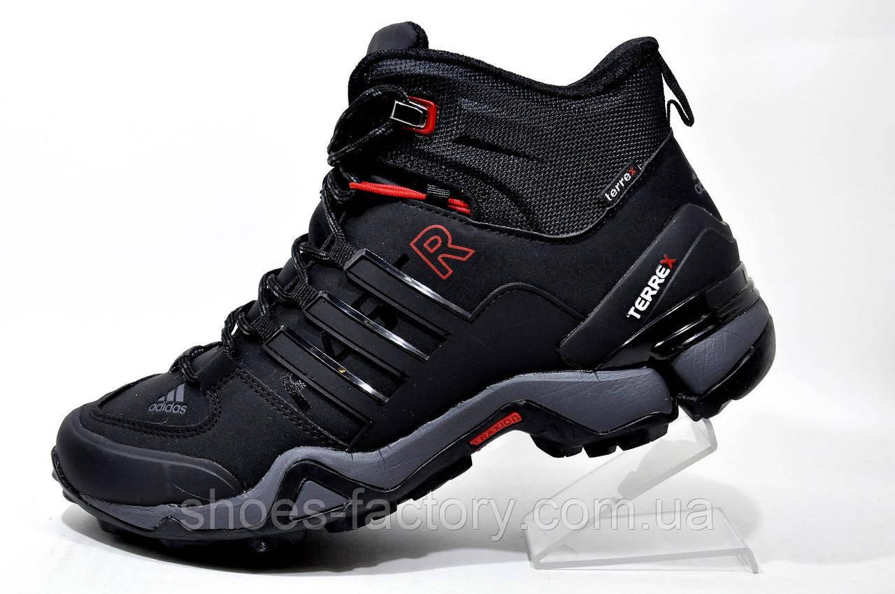 Кроссовки на меху в стиле Adidas Terrex Fast x Gore-Tex, Black зимние