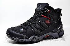 Кроссовки на меху в стиле Adidas Terrex Fast x Gore-Tex, Black зимние, фото 2