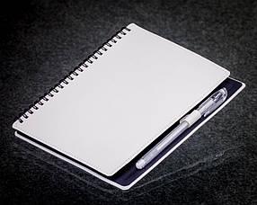 Блокнот с черной бумагой Белый на пружине