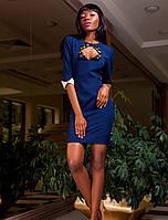 Платье с Интересным Вырезом Т/Синее р. S M L XL