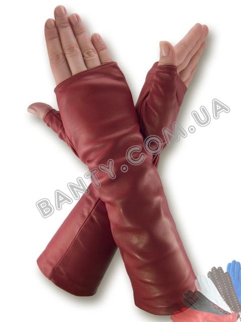 Длинные женские перчатки на шелке модель 382