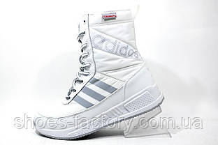 Женские сапоги зимние Adidas Primaloft, White