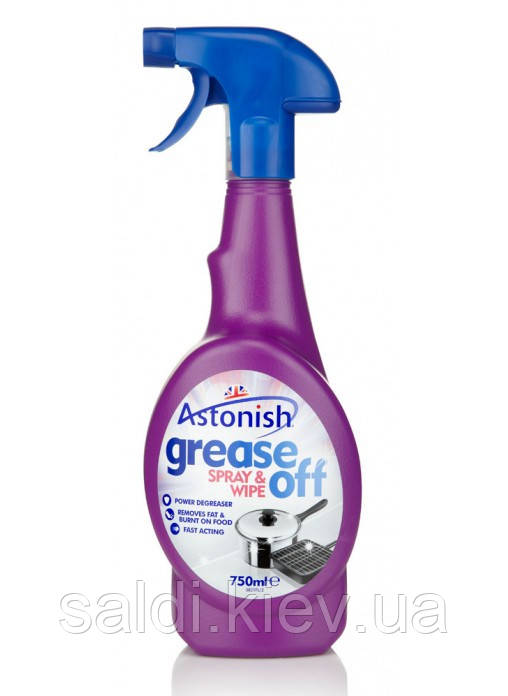 Концентрированное средство для кухни Astonish Grease Off Spray & Wipe