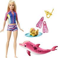 Barbie Подводное плавание из мф Барби Магия дельфинов FBD63 Dolphin Magic Snorkel Fun Friends Doll