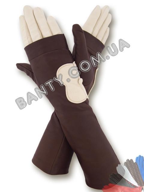 Длинные женские перчатки на шелке модель 373
