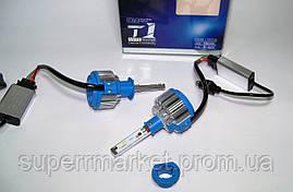 Автомобильные лампы T1 car LED H1 35W 6000K + Power Driver  комплект 2шт, фото 3