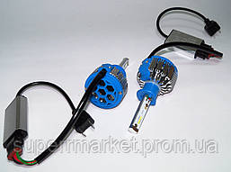 Автомобильные лампы T1 car LED H1 35W 6000K + Power Driver  комплект 2шт, фото 2