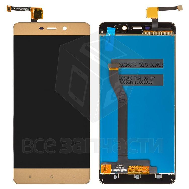 Дисплейный модуль для мобильного телефона Xiaomi Redmi 4 Prime, золото