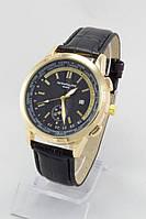 Мужские наручные часы Patek Philippe (золотой корпус, черный циферблат)