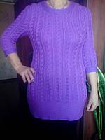 Женский вязаный свитер, ручная работа, образец