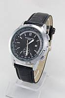 Мужские наручные часы Patek Philippe (антрацитовый корпус, черный циферблат)