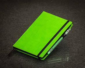 Блокнот с черными листами зеленый Стандарт, фото 2