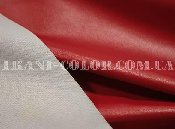 Ткань стрейч-кожа красная, фото 2