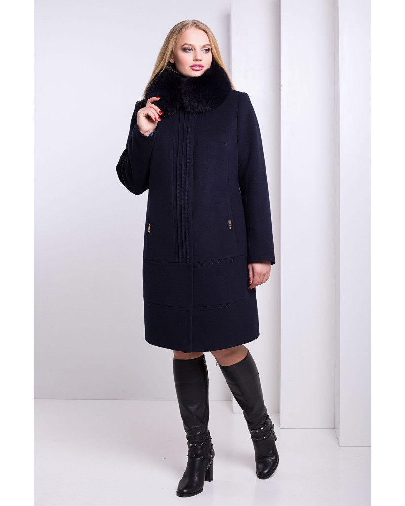 78d575c65c74 Элегантное зимнее пальто с мехом песца рр 50-56 - Eliza - Интернет магазин  одежды
