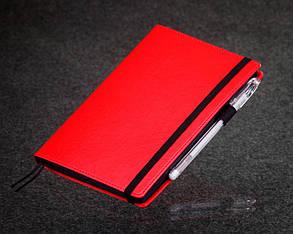 Блокнот с черными листами красный Стандарт, фото 2
