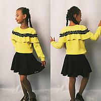 Костюм для девочки, реглан с юбкой  (128-140 р.) 22П20052