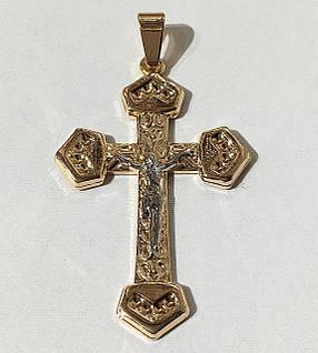 Крест Распятие (родий) 0120 медицинская сталь+ювелирный сплав