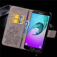Чехол Clover для Samsung Galaxy A5 2016 J510 книжка женский Gray