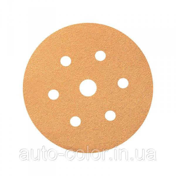 Круг шлифовальный Smirdex P120 для сухой шлифовки, диаметр 150мм, 7 отверстий