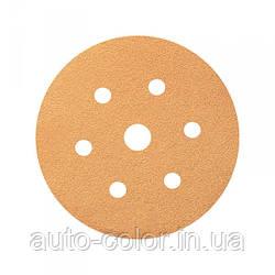 Круг шліфувальний Smirdex P120 для сухої шліфовки, діаметр 150мм, 7 отворів