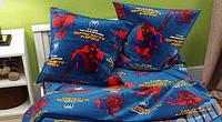 Детский полуторный комплект Спайдермен-2 (Человек-паук), бязь, хлопок