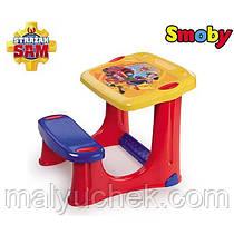 Детская парта со скамейкой Пожарный Сэм Smoby 420205