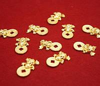 Жаба богатства кошельковая под золото (L = 2,5 см)