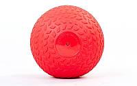 Мяч медицинский (слэмбол) SLAM BALL 2кг (PVC, минеральный наполнитель, d-23см, красный)