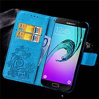 Чехол Clover для Samsung Galaxy A3 2016 A310 книжка женский Blue
