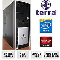 Системный блок Terra - Intel 4х2.5GHz /4GB RAM /200GB HDD /Radeon HD3850 512MB 256-bit