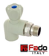 Кран шаровый PPR 20*1/2 радиаторный угловой полипропиленовый FADO Италия