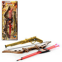 Детский Набор оружия 531-1B21, пистолет (трещотка) 38см, лук, стрелы-присос.3шт, на листе, 25-62,5-4см