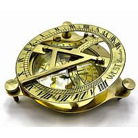 Бронзовые часы с компасом стильные