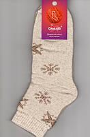Носки женские махровые льняные Смалий, 23-25 размер, рисунок 02, 36002