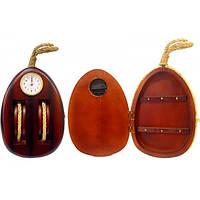 Деревянная ключница с часами Блок