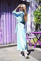 Женское летнее платье-рубашка с поясом, фото 1