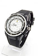 Мужские наручные часы Ferrari (белый циферблат, черный ремешок) (Копия)