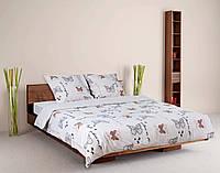 Комплект постельного белья теп бязь из хлопка 961 Батерфляй евро размер