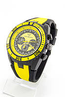 Мужские наручные часы Ferrari (черный с желтыми метками) (Копия)