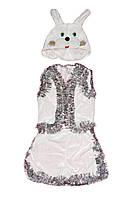 Костюм карнавальный детский 0712 Зайчик велюр, р.р.104-134 см