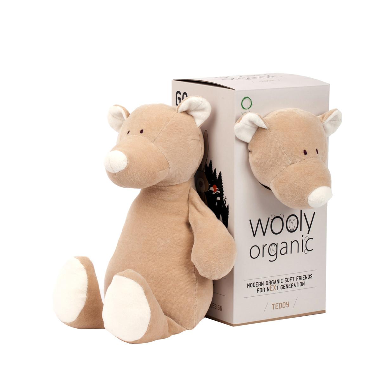 Мягкая игрушка Мишка Wooly organic