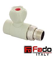 Кран шаровый PPR 25*3/4 радиаторный прямой полипропиленовый FADO Италия
