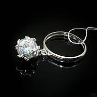 Серебряное женское кольцо Шарик