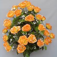 Роза атласная (36 голов) букет искусственный