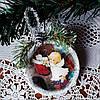 Елочная игрушка Подвеска медальон на елку Подарки на День Святого Николая Рождество новый год
