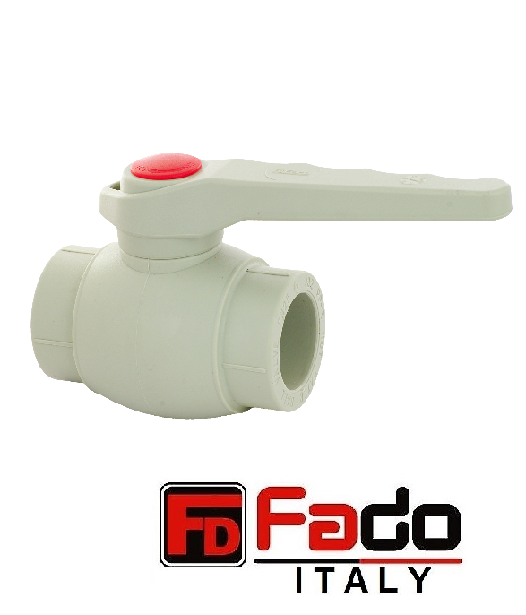Кран шаровый для горячей воды ППР FADO 63 мм