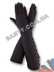 Длинные женские перчатки на шерстяной подкладке 425