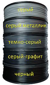 Нитка ABS пластик для 3D принтера, 2.5 сірий, сірий металік